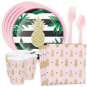 Pineapple Party Standard Tableware Kit (Serves 8)