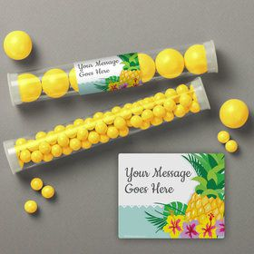 Pineapple Personalized Candy Tubes (12 Count)