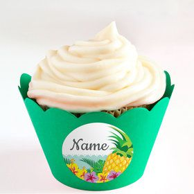 Pineapple Personalized Cupcake Wrappers (Set of 24)