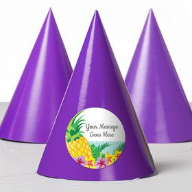 Pineapple Personalized Party Hats (8 Count)