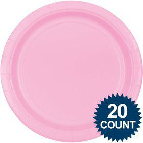 "Pink 10"" Paper Plates, 20 ct."