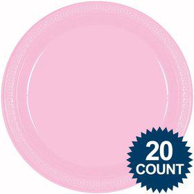 Pink 10  Plastic Dinner Plates (20 ...  sc 1 st  Birthday in a Box & Pink 7 Plastic Cake Plates - Paper u0026 Plastic Plates u0026 Themed ...