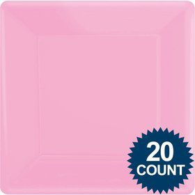 "Pink 10"" Square Paper Plates, 20 ct."