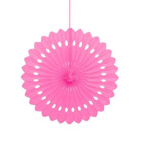 "Pink 16"" Decorative Fan Decoration (Each)"