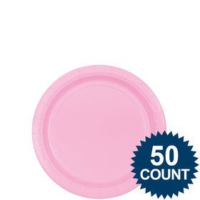 "Pink 7"" Cake Plates (50 Pack)"