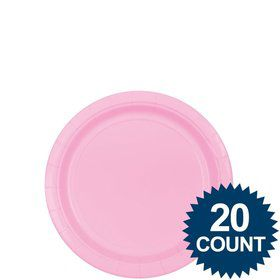 "Pink 7"" Paper Plates, 20 ct."