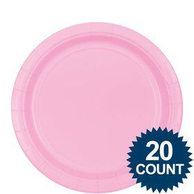 "Pink 9"" Paper Plates, 20ct."