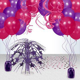 Pink and Purple Birthday Party Decoration Kit