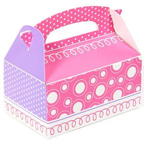 Pink and Purple Empty Favor Boxes (4)