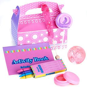 Pink and Purple Filled Party Favor Box (4-Pack)