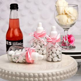 Pink Baby Bottle Favor (Each)