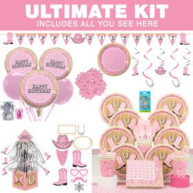 Pink Bandana Birthday Ultimate Tableware Kit (Serves 8)