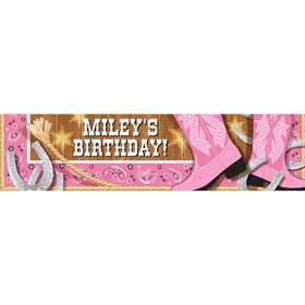 Pink Bandana Personalized Banner (Each)