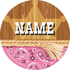 Pink Bandana Personalized Mini Stickers (Sheet of 20)