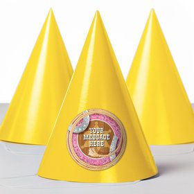Pink Bandana Personalized Party Hats (8 Count)