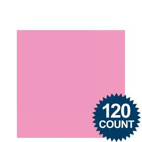 Pink Beverage Napkins, 125 ct.