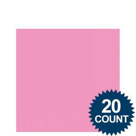Pink Beverage Napkins (20 Pack)