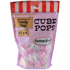 Pink Bubble Gum Cube Pops (15 Count)