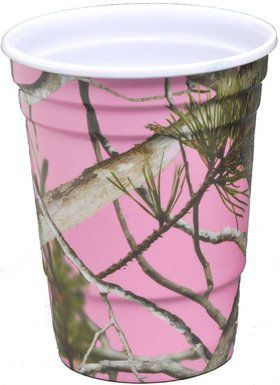 Pink Camo 16oz Melamine Party Cups (2 Pack)