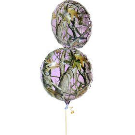 "Pink Camo 18"" Mylar Balloon (Each)"