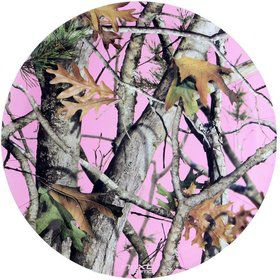"Pink Camo 9"" Plates-Round (8 Pack)"