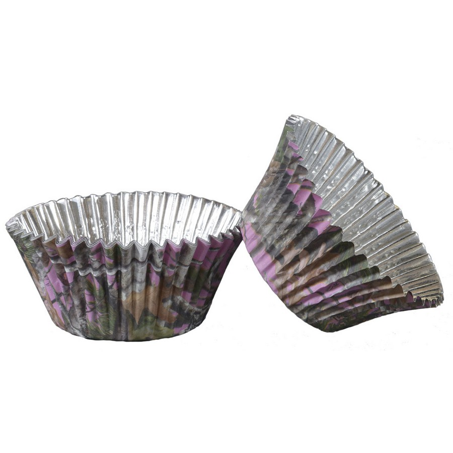 Pink Camo Foil Cupcake Cups (36 Pack) - Party Supplies BB76940