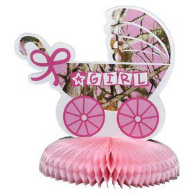 "Pink Camo ""It's a Girl"" Centerpiece (Each)"