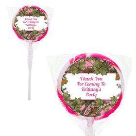 "Pink Camo Personalized 2"" Lollipops (20 Pack)"