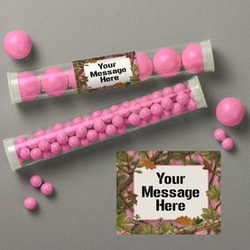 Pink Camo Personalized Candy Tubes (12 Count)