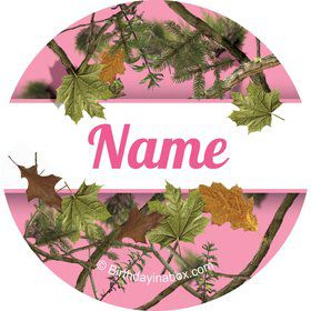 Pink Camo Personalized Mini Stickers (Sheet of 20)