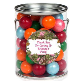 Pink Camo Personalized Paint Can Favor Container (6 Pack)