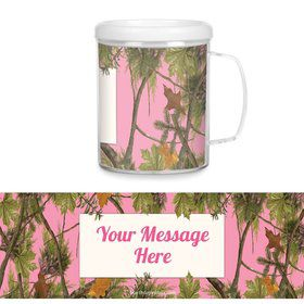Pink Camo Plastic Personalized Favor Mugs (Each)