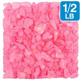 Pink Cherry 1/2Lb. Rock Crystal Candy Gems (Each)