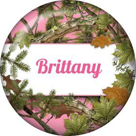 Pink Cover Personalized Button (each)
