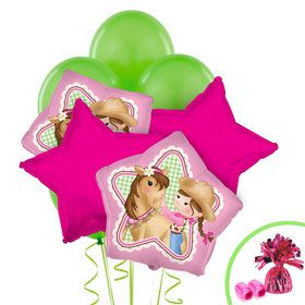 Pink Cowgirl Balloon Bouquet