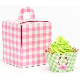 Pink Cowgirl Cupcake Wrapper Box Kit