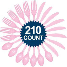 Pink Cutlery Set - Value Pack 210 ct