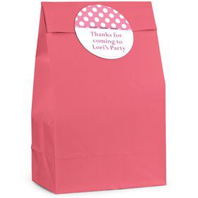 Pink Dots Personalized Favor Bag (12 Pack)