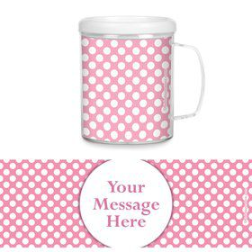Pink Dots Personalized Favor Mugs (Each)