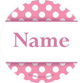 Pink Dots Personalized Mini Stickers (Sheet of 20)