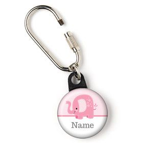 "Pink Elephant Personalized 1"" Carabiner (Each)"