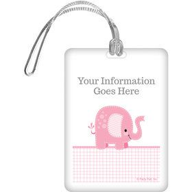 Pink Elephant Personalized Bag Tag (Each)
