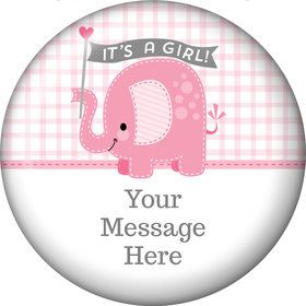 Pink Elephant Personalized Magnet (Each)