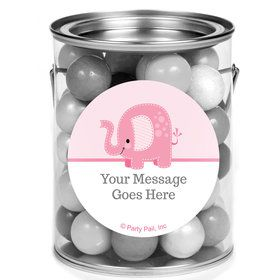Pink Elephant Personalized Mini Paint Cans (12 Count)