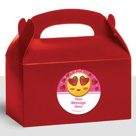 Pink Emoji Personalized Treat Favor Boxes (12 Count)
