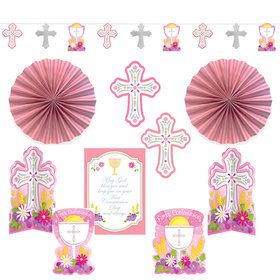 Pink First Communion Decorating Kit (10 Pieces)