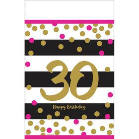 Pink & Gold 30th Birthday Table Cover (1)