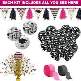 Pink Grad Decoration Kit