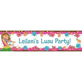 Pink Luau Fun Personalized Banner (Each)