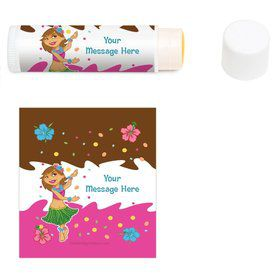 Pink Luau Fun Personalized Lip Balm (12 Pack)